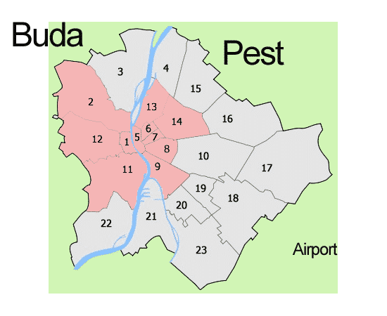 Budapest districts