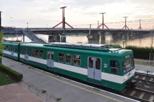 Suburb train of Budapest