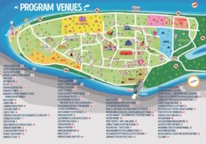Sziget festival map