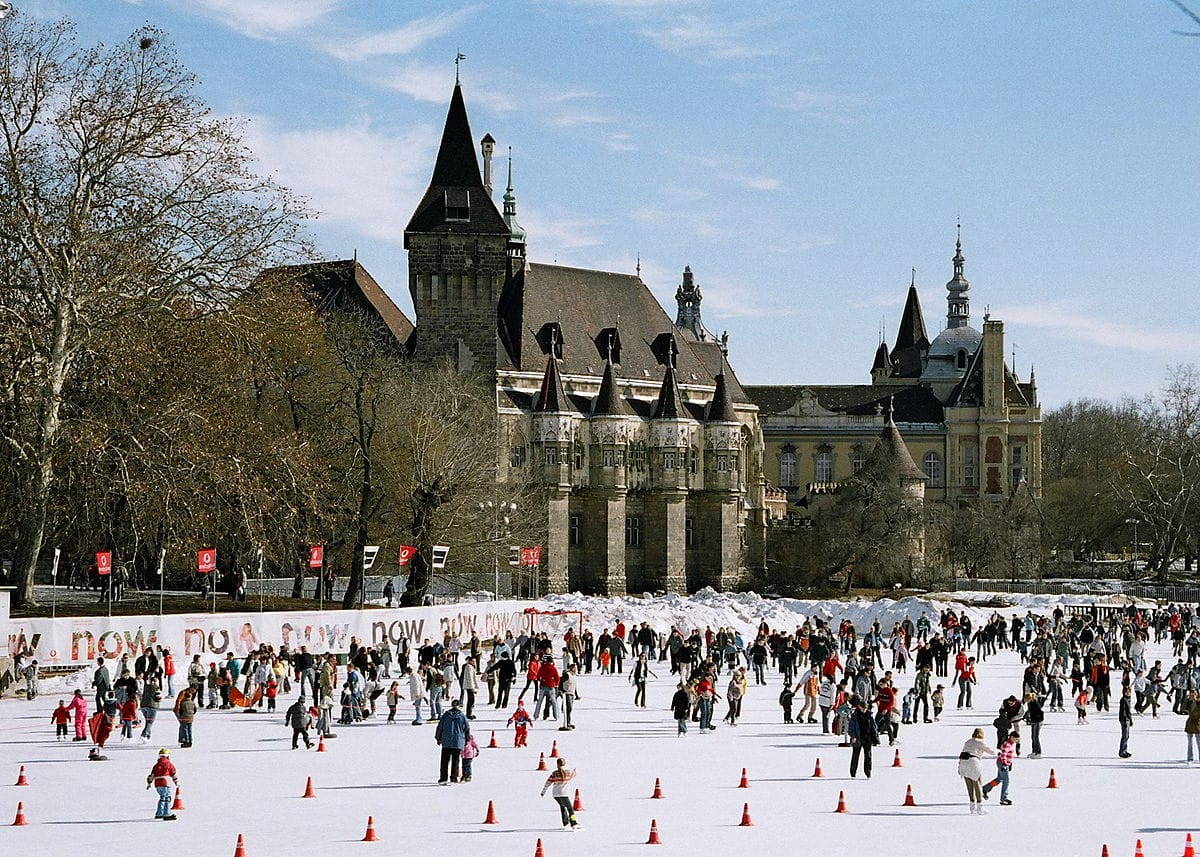 ice rink in Budapest