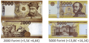 currency forint in pound 2000