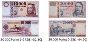 forint change money in budapest 10000