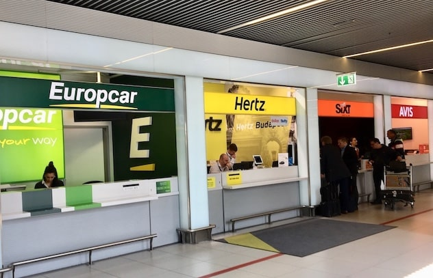car rental budapest airport