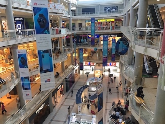 shopping mall in Budapest
