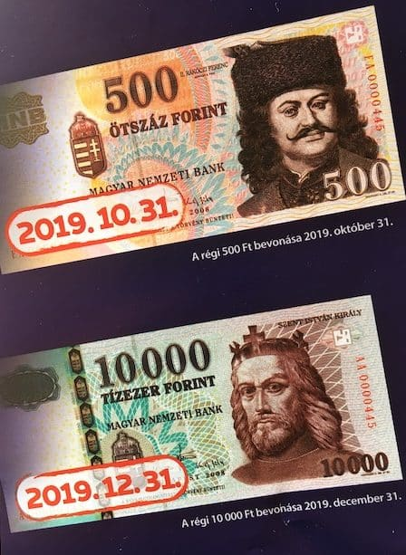 Hungarian currency not valid